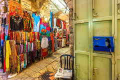 Market in Old City of Jerusalem, Israel. Stock Photo