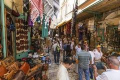 Market of the old city jerusalem. JERUSALEM/ISRAEL - 20 SEPTEMBER 2014: people walking in the market of the old city jerusalem. 20 september 2014 Jerusalem Stock Photography