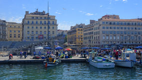 Market in the Old Port of Marseille Stock Photo
