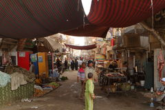 Market in the old town of Luxor in Egypt Royalty Free Stock Image