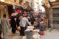 Market in the old town of Luxor in Egypt Stock Photography