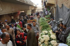Market in the old town of Luxor in Egypt Stock Images