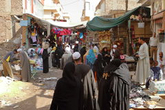 Market in the old town of Luxor in Egypt Royalty Free Stock Photos