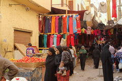 Market in the old town of Luxor in Egypt Royalty Free Stock Images