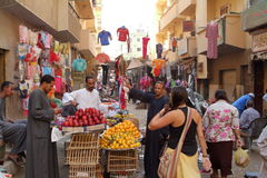 Market in the old town of Luxor in Egypt Stock Image