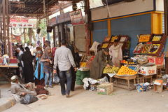Market in the old town of Luxor in Egypt Royalty Free Stock Photo