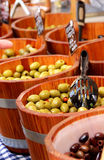 Market with olives Royalty Free Stock Image