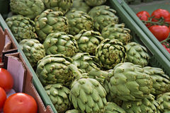 Market Organic Artichokes Royalty Free Stock Photos