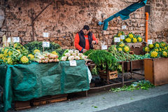 Market. PALERMO, ITALY - MARCH 13, 2015:  Grocery shop at famous local market Ballaro in Palermo, Italy Stock Image