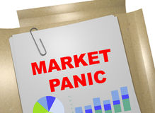 Market Panic - business concept. 3D illustration of MARKET PANIC title on business document Royalty Free Stock Photos