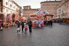 Market on piazza Navona Royalty Free Stock Photography