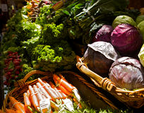 At the market Place. Fresh vegetables on farmers market Stock Images