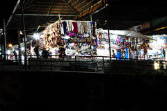 Market Place all'aperto alla notte Cusco Peru South America Fotografia Stock Libera da Diritti