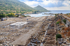 Market place of ancient city of knidos in Datca, Turkey Royalty Free Stock Photos