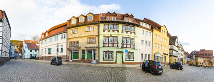 Market place in Bad Frankenhausen royalty free stock image