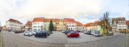 Market place in Bad Frankenhausen Royalty Free Stock Images