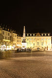 Market place in Bonn (Germany) at night Royalty Free Stock Image