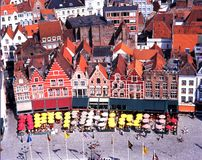 The Market Place, Bruges. Stock Photography