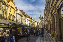 Market place in center of Prague Stock Photo