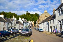 Market place in Dunkeld, Perth and Kinross, Scotland United Kingdom.  stock photo
