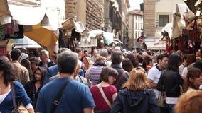 Market Place en Florencia (9 de 11) almacen de metraje de vídeo