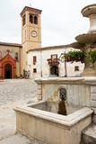 Market place with fountain in Italy Royalty Free Stock Photos