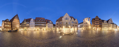 Market place in Hildesheim, Germany Stock Photos