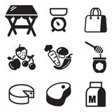 Market Place Icons Stock Photography