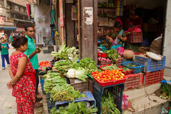 A market place of Kathmandu, Nepal Stock Photography