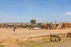 Market Place in landelijk Kenia Stock Fotografie
