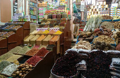 A market place in the Luxor city Egypt, some unknown uncommon wa. Res royalty free stock photos