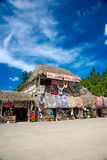 Market place at mayan ruins Royalty Free Stock Photography