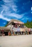 Market place at mayan ruins royalty free stock photography