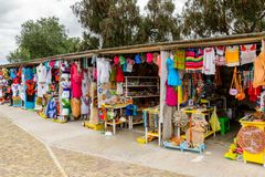 Market place with original traditional Mexican souvenirs Stock Image