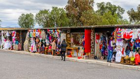 Market place with original traditional Mexican souvenirs Royalty Free Stock Photography