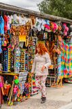 Market place with original traditional Mexican souvenirs Stock Photography