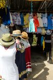 Market place  with the original traditional Mexican souvenirs Royalty Free Stock Photography