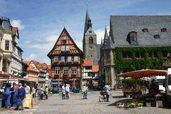 Market place Quedlinburg Royalty Free Stock Photography