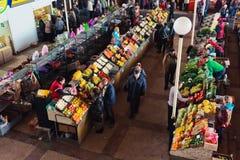 Market place scene in Belarus Royalty Free Stock Photo