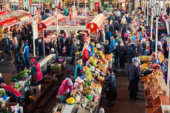 Market place scene in Belarus Royalty Free Stock Image