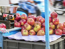 Market place selling of fruits arranged in pattern. At South India ,Asia Royalty Free Stock Photos