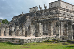 Market place and thousand columns Mayan archeological site Royalty Free Stock Photography