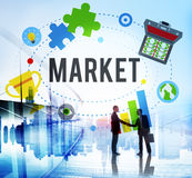 Market Plans Advertising Ideas Global Success Branding Concept royalty free stock image