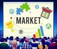 Market Plans Advertising Ideas Global Successs Branding Concept Stock Images