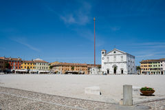 Market plaza - Palmanova. Market plaza in front of the Cathedral of Palmanova - Udine (IT Stock Photography