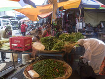 Market in Port Louis, Mauritius stock photography