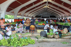 Market in Port Vila in Vanuatu, Micronesia, South Pacific Royalty Free Stock Photography