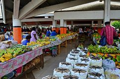 Market in Port Vila, Vanuatu. Traditional food market in Port Vila, Vanuatu Stock Photos