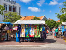 Market Punda. Walking around Punda Market- Views around Curacao a Caribbean Island Stock Photography