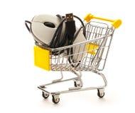 Market pushcart with mouse Stock Photo
